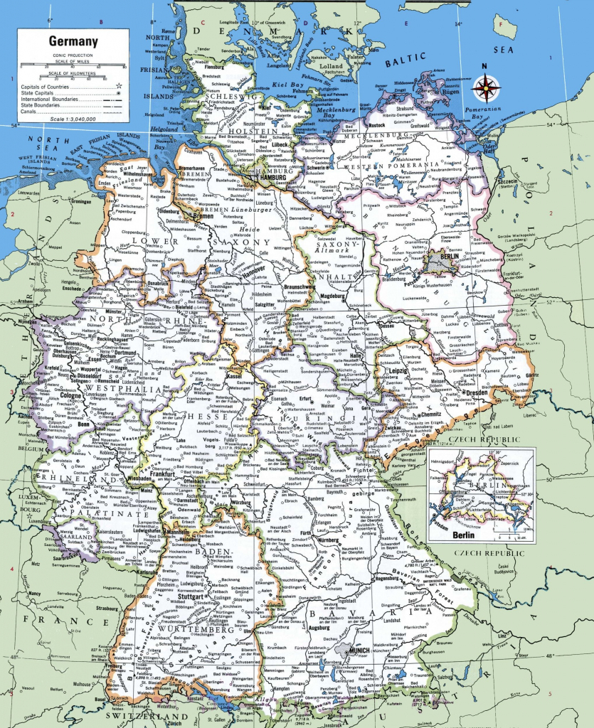 Map Of Germany With Cities And Towns | Traveling On In 2019 | Map throughout Printable Map Of Germany