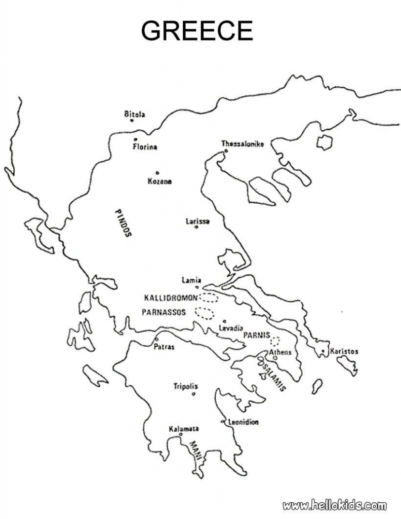 Map Of Greece Printable And Travel Information | Download Free Map with regard to Outline Map Of Greece Printable