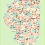 Map Of Illinois With Cities And Towns Intended For Illinois County Map With Cities Printable