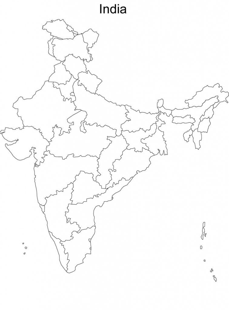 Map Of India Without Names Blank Political Map Of India Without throughout Political Outline Map Of India Printable