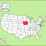 Map Of Iowa Counties Free And Printable In Printable Map Of Iowa