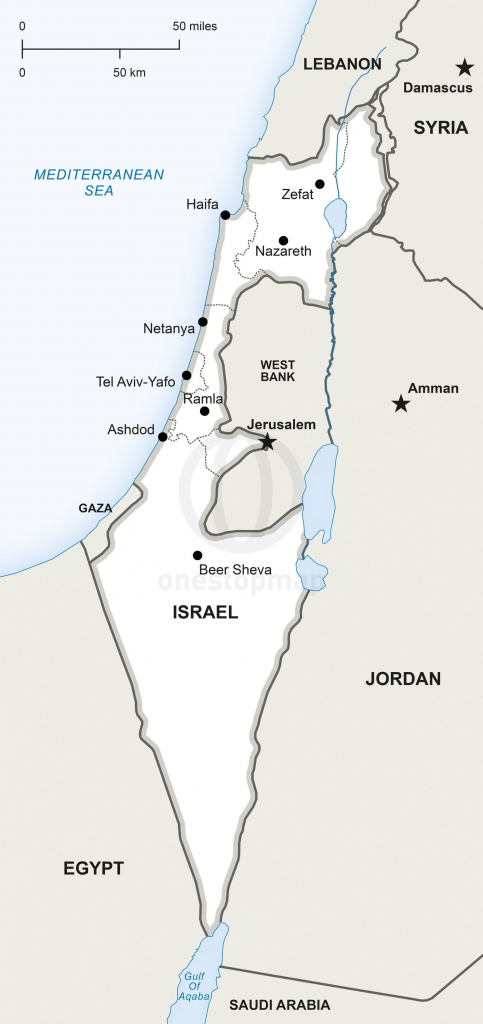 Map Of Israel Political In 2019 | Maps | Map, Israel, Map Vector intended for Printable Map Of Israel