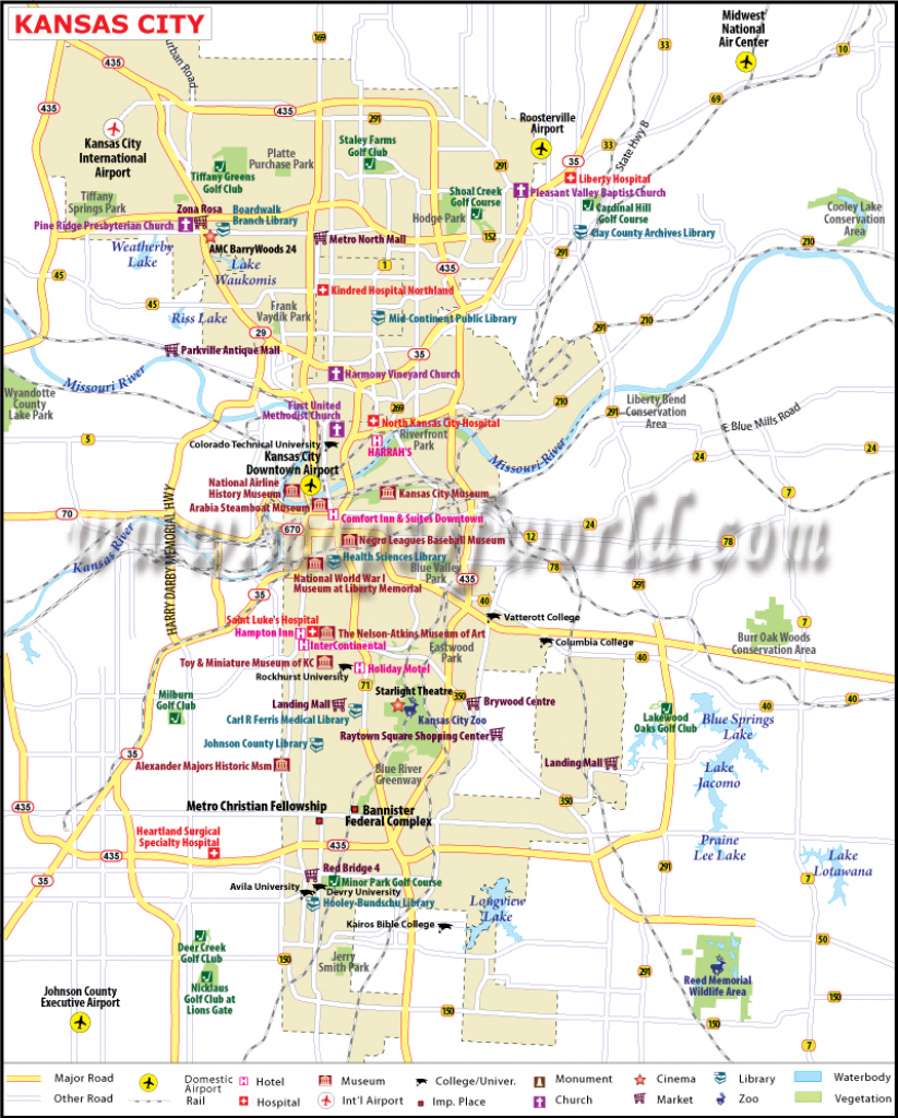Map Of Kansas With Major Cities And Travel Information | Download throughout Printable Kansas Map With Cities