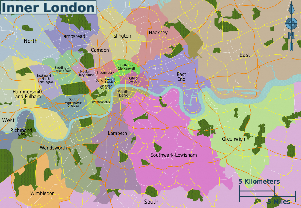 Map Of London 32 Boroughs & Neighborhoods within Printable Map Of London Boroughs