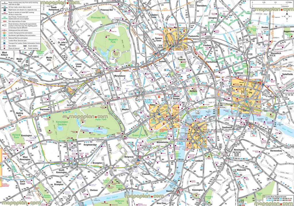 Map Of London With Tourist Attractions Download Printable Street Map pertaining to Printable Street Maps