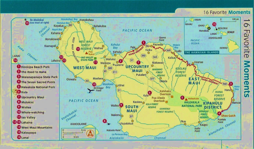 Map Of Maui Hawaii | Afputra intended for Maui Road Map Printable
