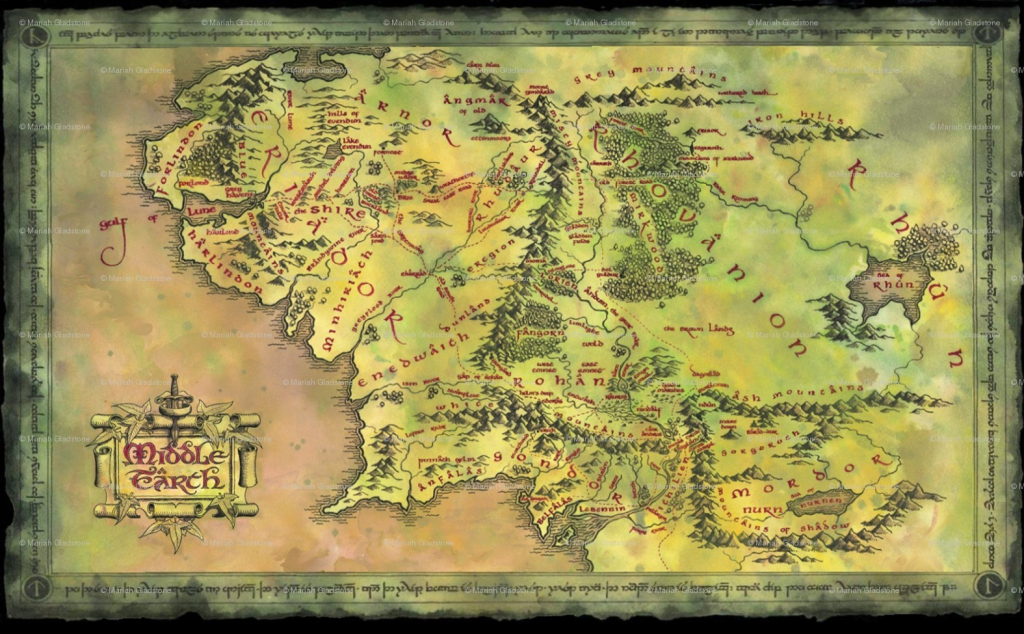 Map Of Middle Earth From Lord The Rings For Large Noavg Me At with regard to Printable Map Of Middle Earth