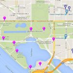 Map Of Monuments And Memorials In Washington, D.c. With Printable Map Of Dc Monuments