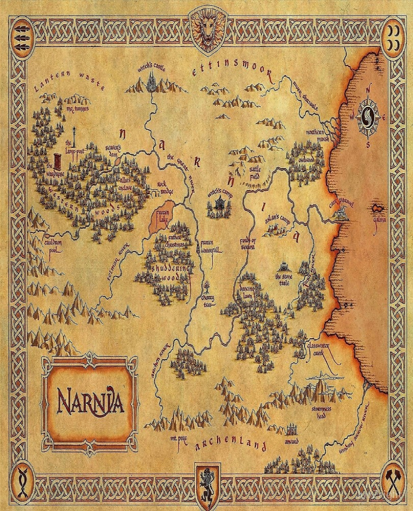 "Map Of Narnia""luv2Right 