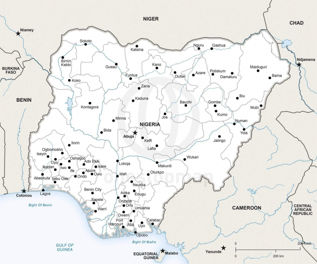 Map Of Nigeria Political with Printable Map Of Nigeria