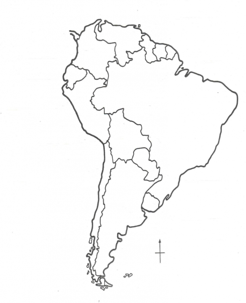 Map Of North America Black And White New Blank South 9 - World Wide Maps within South America Outline Map Printable
