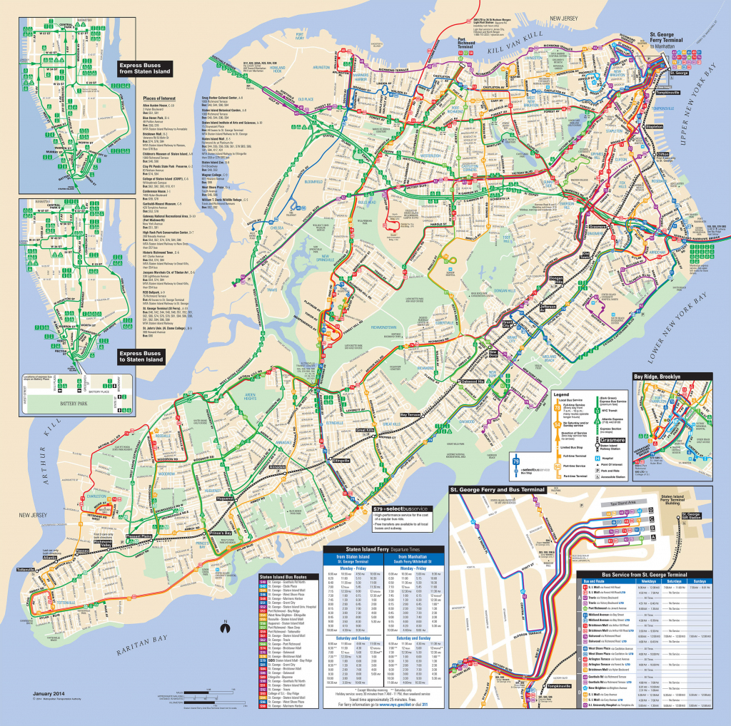Map Of Nyc Bus: Stations & Lines with Printable Map Of Brooklyn