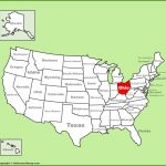 Map Of Ohio And Other Free Printable Maps With Printable Map Of Ohio