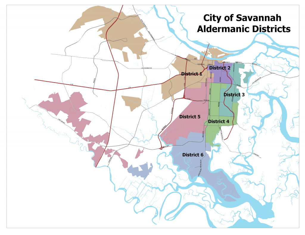 Map Of Savannah Ga And Surrounding Area And Travel Information intended for Printable Map Of Savannah