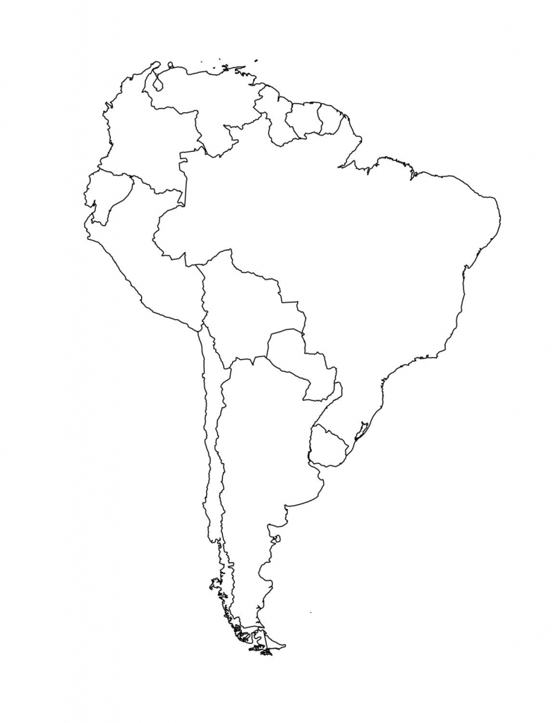Map Of South American Countries | Occ Shoebox | South America Map within Printable Blank Map Of South America