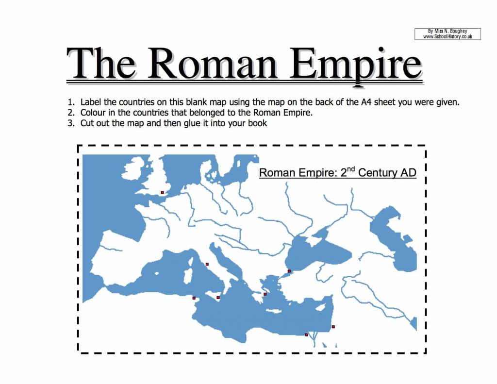 Map Of The Roman Empire Worksheet | Year 7 Pdf with regard to Roman Empire Map For Kids Printable Map