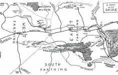 Map Of The Shire – J.r.r. Tolkien regarding Printable Lord Of The Rings Map