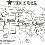Map Of Time Zones In The Us Usa Time Zone Map Fresh Printable Map Inside Printable Us Timezone Map With State Names