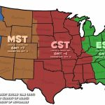 Map Of Time Zones In The Us Usa Time Zone Map Inspirational With Printable Usa Time Zone Map