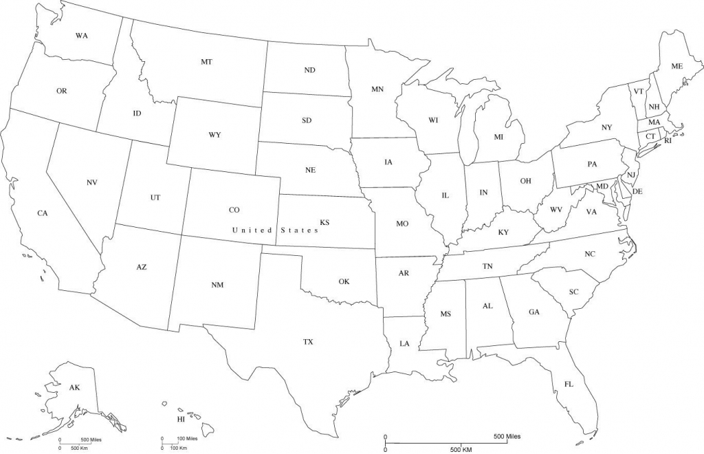 Map Of Usa States Abbreviated And Travel Information | Download Free intended for Printable Map Of Usa With State Abbreviations