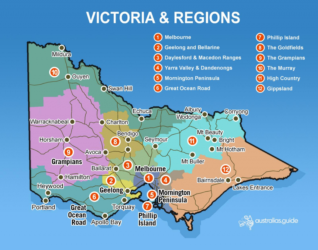 Map Of Victoria | Victoria - Australia's Guide regarding Printable Map Of Victoria Australia