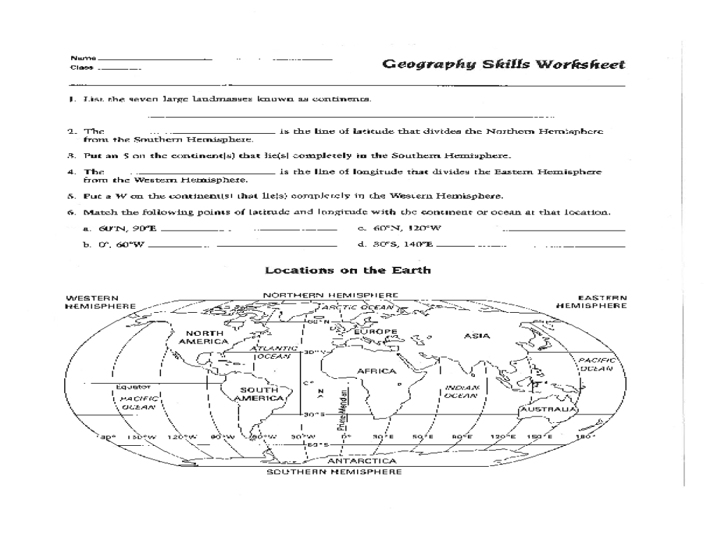 Map Skills Worksheet Pdf Fresh Best Solutions Of 6Th Grade Geography with Map Skills Quiz Printable