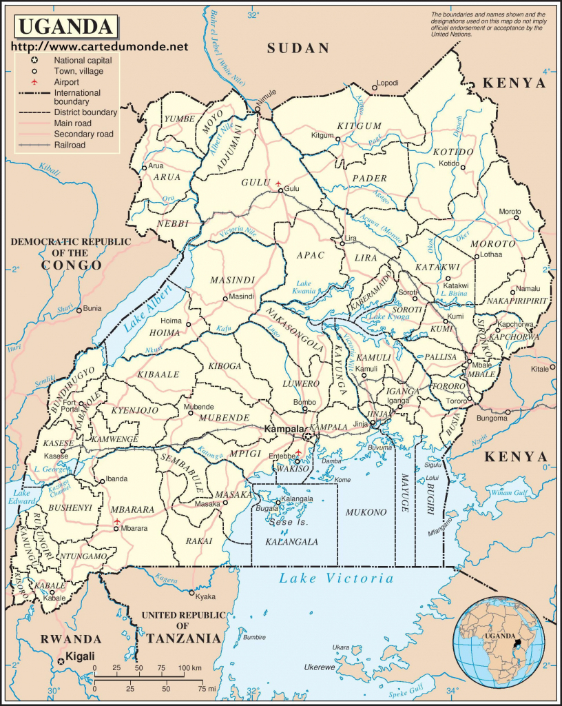 Map Uganda, Country Map Uganda for Printable Map Of Uganda