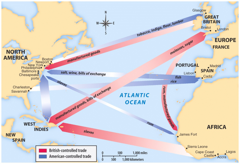Maps, Charts & Graphs with regard to Triangular Trade Map Printable