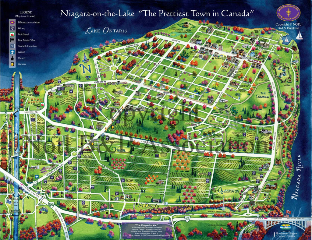 Maps & Getting Around >> Zoom Leisure - Niagara Wine Tours And Bike for Printable Map Of Niagara On The Lake