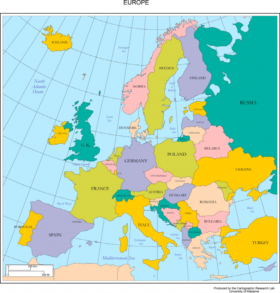 Maps Of Europe for Map Of Europe For Kids Printable