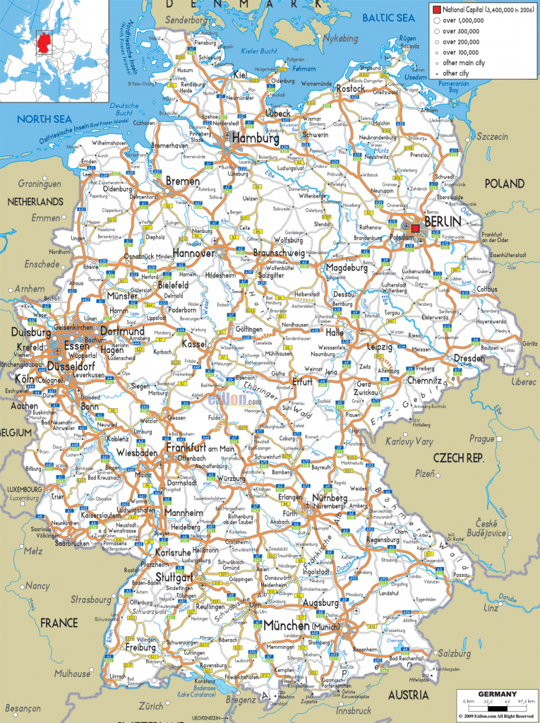 Maps Of Germany | Detailed Map Of Germany In English | Tourist Map in Printable Map Of Germany