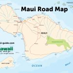 Maps Of Maui Hawaii With Maui Road Map Printable
