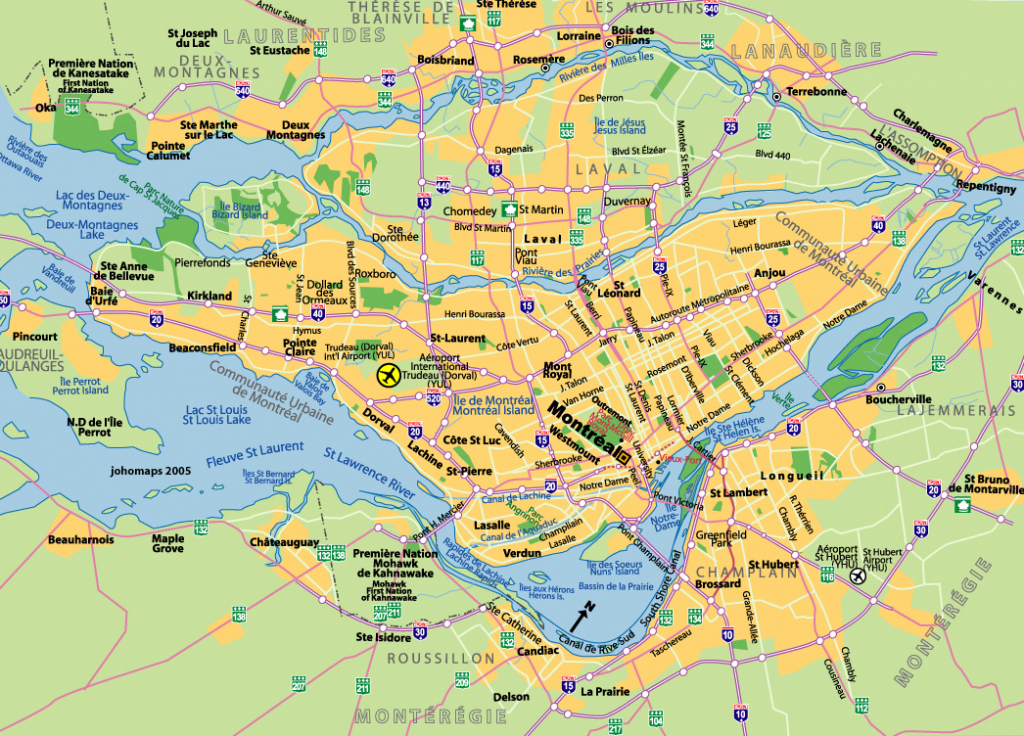 Maps Of Montreal - Johomaps for Printable Map Of Montreal