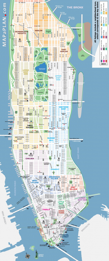 Maps Of New York Top Tourist Attractions - Free, Printable intended for Printable Street Map Of Manhattan