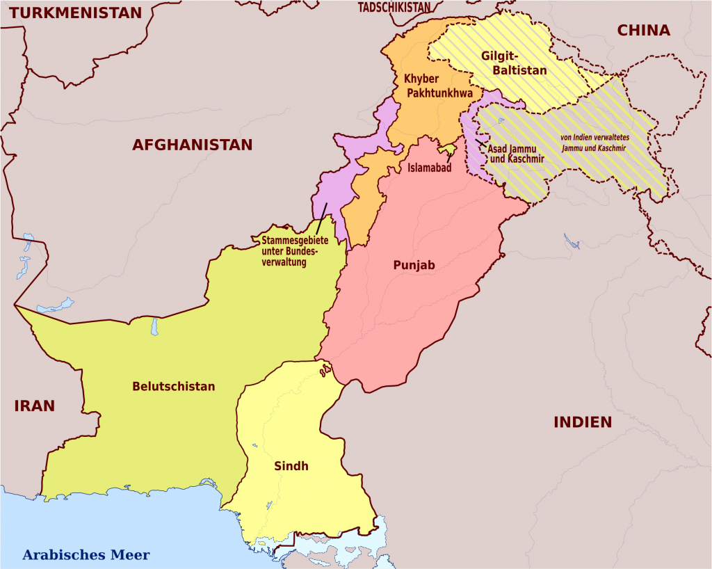 Maps Of Pakistan   Detailed Map Of Pakistan In English   Tourist Map within Printable Map Of Pakistan
