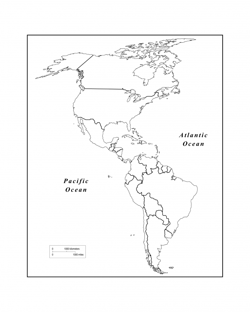 Maps Of The Americas Page 2 Within Blank Map Of The Americas pertaining to Western Hemisphere Map Printable