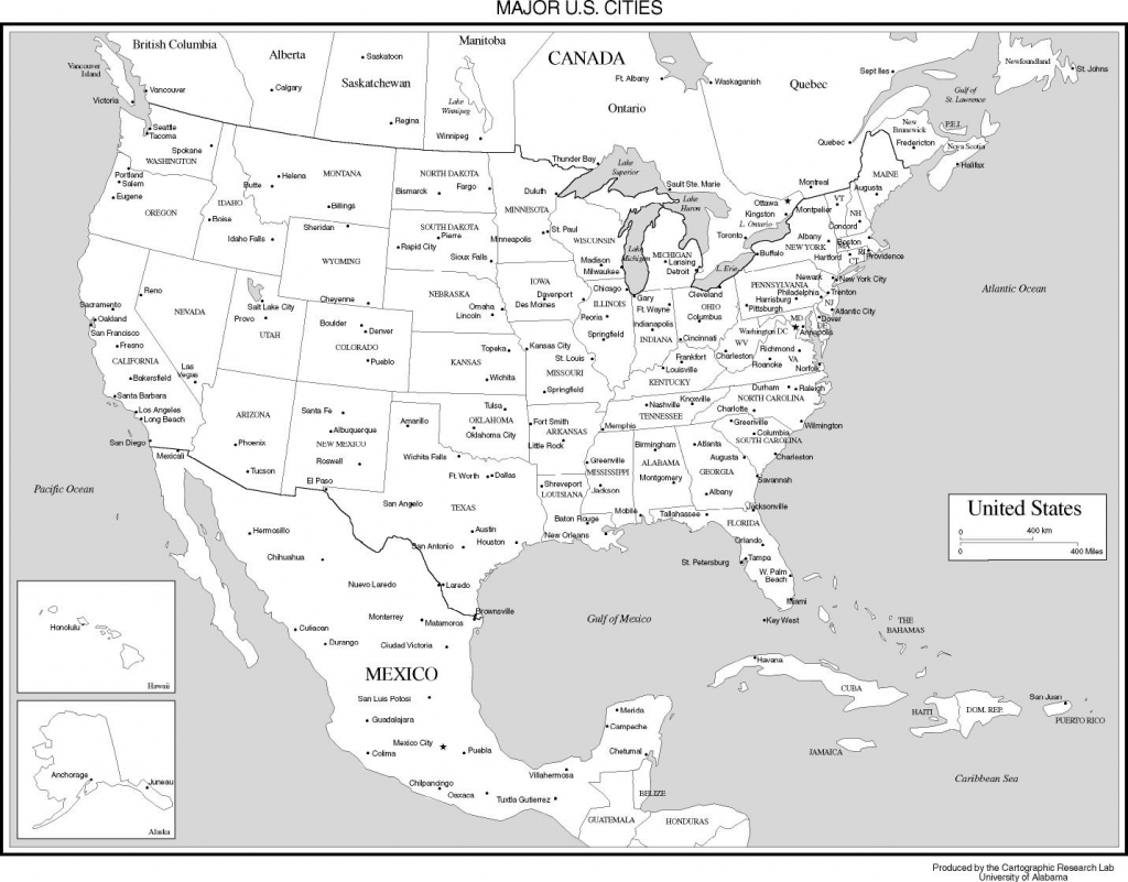 Maps Of The United States with regard to Printable Us Map With Cities