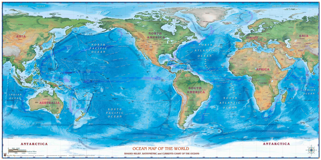 Maps Of The World Oceans - Maplewebandpc in World Ocean Map Printable