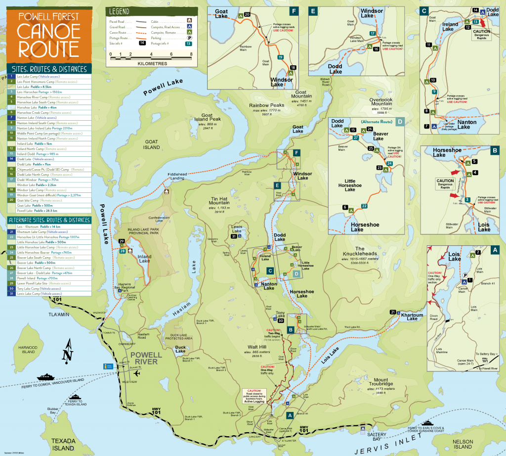 Maps | Plan Your Trip | Sunshine Coast Tourism - Official Site in Printable Map Of Bc