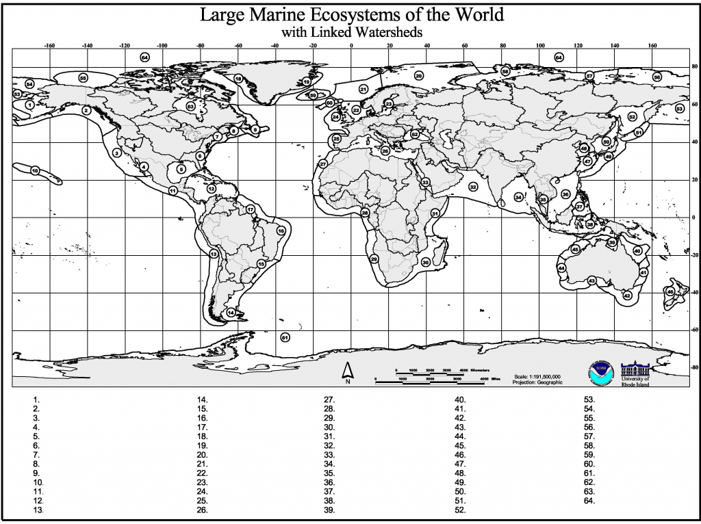Marine Geography Quiz – Gcaptain intended for World Map Test Printable