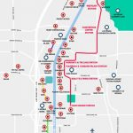 Monorail, Tram & Strip Map | Las Vegas Maps | Vegasjourney In Las Vegas Strip Map 2016 Printable