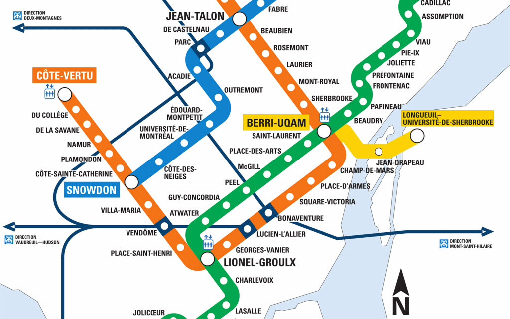 Montreal Metro Map - Go! Montreal Tourism Guide regarding Printable Map Of Downtown Montreal