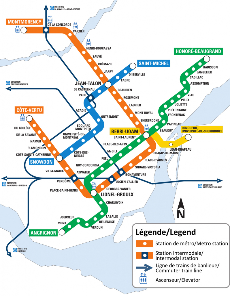 Montreal Metro Map - Go! Montreal Tourism Guide with Montreal Metro Map Printable