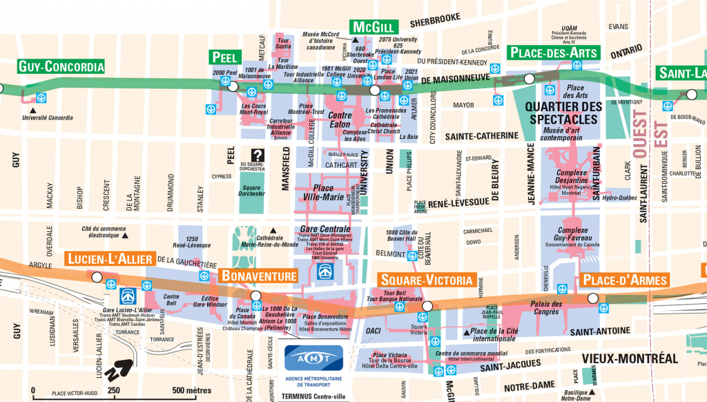 Montreal Underground City Map - Go! Montreal Tourism Guide inside Printable Map Of Downtown Montreal