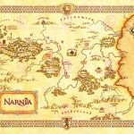Movie Film Map Narnia Lewis Classic Sci Fi Poster Print Lv10152 For For Printable Map Of Narnia