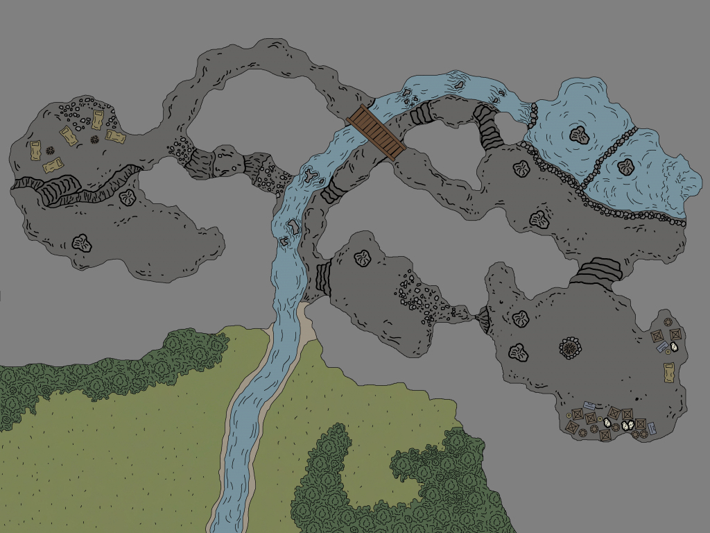 My Rendition Of Cragmaw Hideout : Battlemaps for Cragmaw Hideout Printable Map