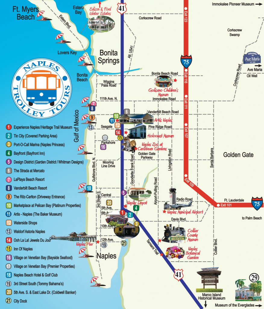 Naples Trolley - Route Map   Fav Places In My Home State..florida for Printable Street Map Of Naples Florida