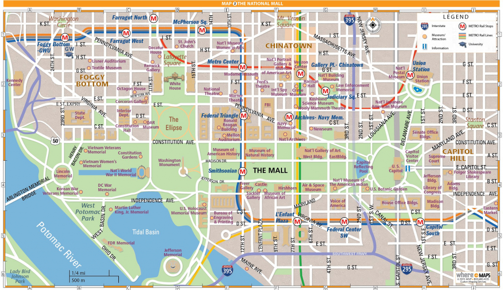 National Mall Map In Washington, D.c. | Wheretraveler throughout Printable Walking Map Of Washington Dc