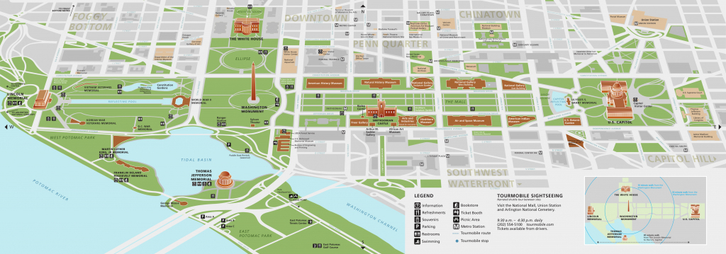 National Mall Maps | Npmaps - Just Free Maps, Period. within National Mall Map Printable