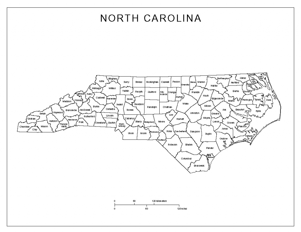 Nc State Map With Counties And Travel Information | Download Free Nc inside Printable Nc County Map